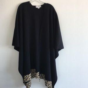 ST. JOHN Collection Black Shawl Poncho